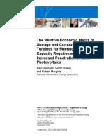 NREL Relative Economic Merits of Storage and Combustion Turbines for Meeting Peak Capacity