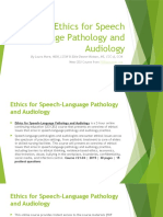Ethics for Speech Language Pathology and Audiology
