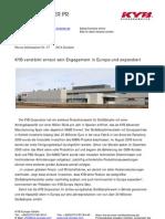 KYB verstärkt erneut sein Engagement in Europa und expandiert