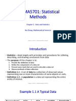 MA5701 Chap01 Lecture Data and Statistics