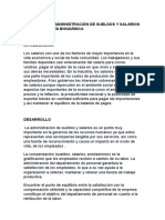 Impacto de La Administración de Sueldos y Salarios en La Ingeniería Bioquímica