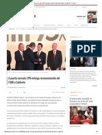 A Puerta Cerrada, EPN Entrega Reconocimiento Del ITAM a Calderón - Proceso