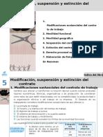Solucionario Unidad 5 Modificación, Suspensión y Extinción Del Contrato Editex 2014