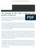 Meaning of Life, The_ Early Continental and Analytic Perspectives _ Internet Encyclopedia of Philosophy