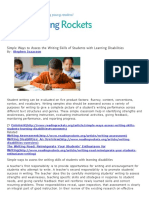 simple rdg 350 - writing ways to assess the writing skills of students with learning disabilities   reading rockets