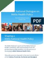 Metis Health Presentation for Health Accord