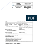 GUIA de APRENDIZAJE de Variacion Presupuestariac