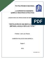 187606413 Destilacion a Reflujo Total