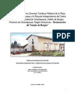 MEMORIA DESCRIPTIVA - I.I.E.E- PROYECTO TEMPLO DE BURGOS (CHACHAPOYAS)