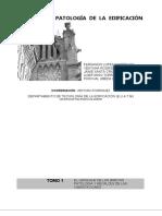 Manual de Patología de la Edificación. Tomo 1