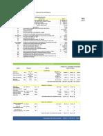 Planilla de Excel de Costo Por Hora de Maquina