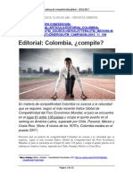 Editorial Colombia Compite Revista Dinero Nov 10 2016