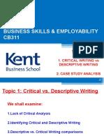 Week 5 Critical vs Descriptive Writing_cb311_2013