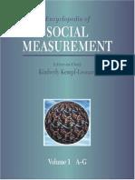 Encyclopedia of Social Measurement