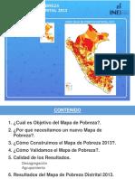 Mapa de Pobreza Distrital y Provincial