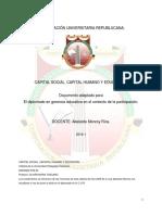 Capital Social Humano Educación