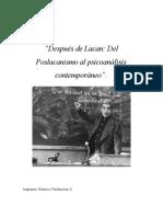 Poslacanismo resúmen F.Urribarri