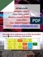 1. Introducción al curso de PetrologÃ-a