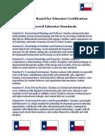 educator standards-abridged
