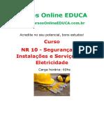 Curso Nr 10 Seguranca Em Instalacoes e Servicos Em Eletricidade 77268