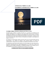 Distancia de La Tierra a La Luna