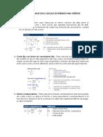 Semana 8 Fórmulas Usadas en El Cálculo de Intereses Para Créditos