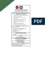 Requisitos Curso de Aspirantes a Voluntarios