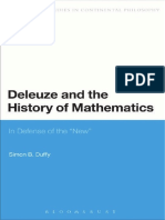 Simon Duffy Deleuze and the History of Mathematics in Defense of the New(Autosaved)