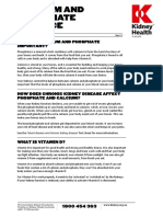 Calcium and Phosphate Balance Fact Sheet