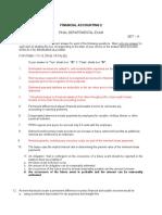 FX FINACC 2 A key