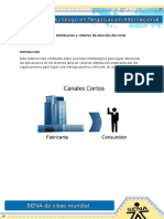 Politica de Distribucion y Criterios de Eleccion Del Canal