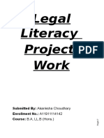 Legal Literacy Project Work