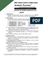 Bases Torneo de Ajedrez Amancio Varona 2016