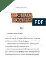 Agama Dan Pengaruhnya Terhadap Kesehatan Mental