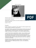 Pedro Almodóvar - Biografia-Origem- Filmografia