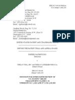 Unified Patents Inc. v. Uniloc USA, Inc., IPR2017-00184, Paper 1 (Nov. 10, 2016)