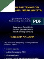 Dasar-dasar Teknologi Pengolahan Limbah Industri