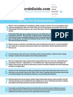 12 Steps for Entrepreneurs