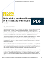 Determining Positional Inaccuracies in Directionally Drilled Wells - Oil & Gas Journal