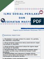 Sesi 4-Ilmu Sosial Perilaku Dan Kesehatan Masyarakat