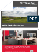 East Brighton Golf Brochure 2010