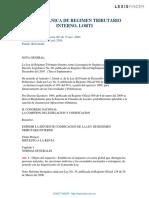 Tributar-ley Organica de Regimen Tributario Interno Lorti