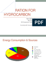 Exploration for Hydrocarbon
