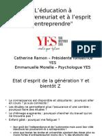 L'éducation à l'entrepreneuriat et à l'esprit d'entreprendre