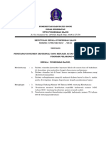 Penetapan Dokumen Eksternal Yang Menjadi Acuan Dalam Penyusunan Standar Pelayanan Klinis