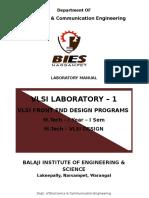 VLSI  Front End Lab Manual