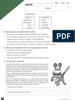 Fichas de repaso Tema 12 Lengua