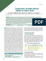 Silicon Iron in Nitric Acid