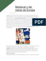 Música Medieval y Del Renacimiento de Europa