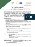 Call for Application EDU REF WB 2016 Dec